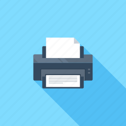 device, hardware, office, output, paper, print, printer icon