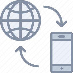 connection, data, internet, mobile, phone icon