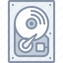 computer, disk, drive, hard, ssd, technology icon