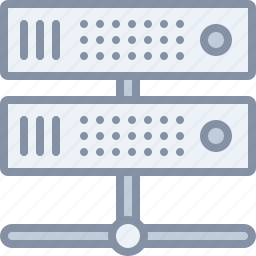 computer, data, server, technology icon