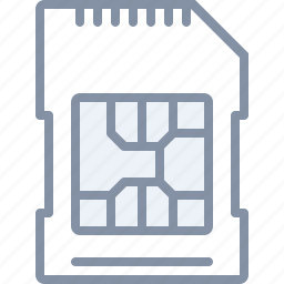 card, mobile, phone, sim, technology icon