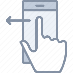 action, gesture, left, mobile, phone, swipe, technology icon