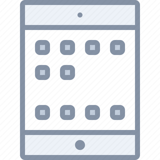 app, apple, ipad, tablet, technology icon