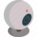 camera, isometric, technology, video, web cam icon