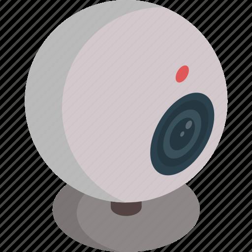 camera, isometric, technology, video, web cam icon
