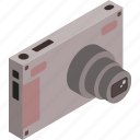 camera, isometric, photography, photos, technology icon