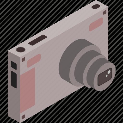 camera, isometric, photography, photos, technology icon