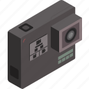 camera, gopro, isometric, photography, technology icon