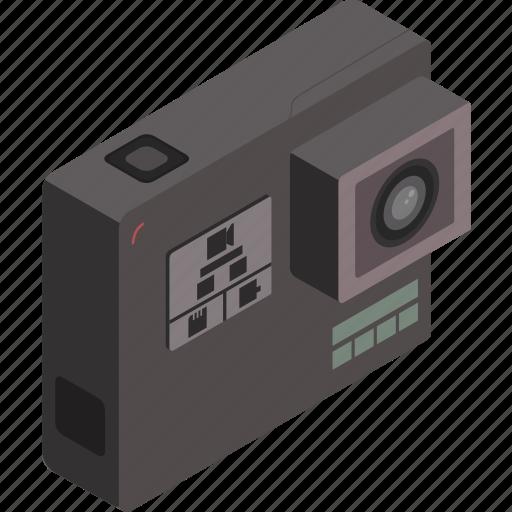 camera, gopro, isometric, photography, technology icon