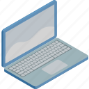 internet, isometric, laptop, technology, work icon