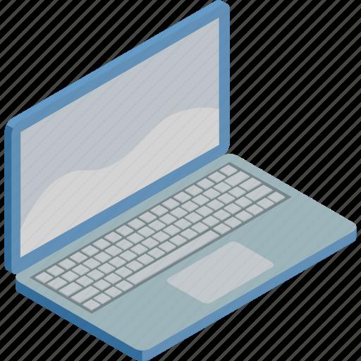 internet, isometric, laptop, technology, work icon