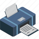 copy, isometric, printer, scanner, technology icon