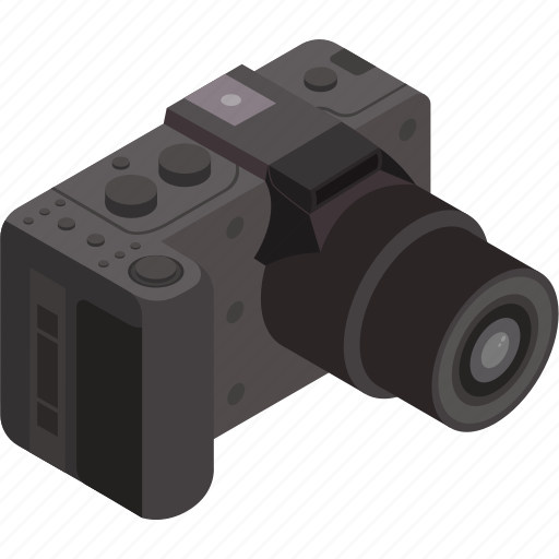camera, isometric, photography, technology, video icon