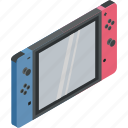 games, isometric, nintendo, switch, technology icon