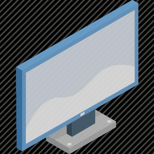 isometric, monitor, screen, technology, tv icon