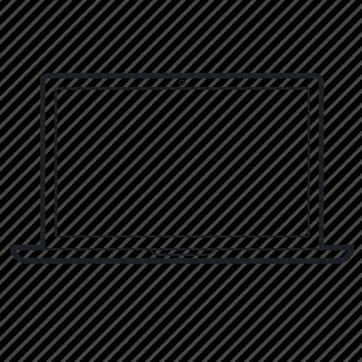 Line Art Laptop : Computer device laptop lineart tech technology icon