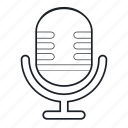 device, lineart, mic, microphone, sound, tech, technology icon