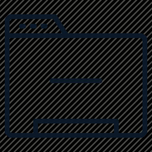 Data, file, folder, minus icon - Download on Iconfinder