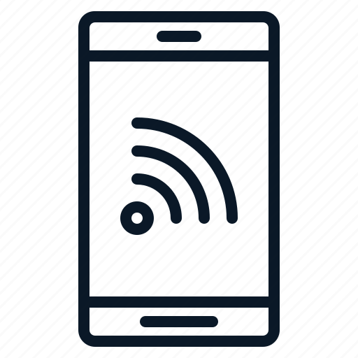 conectifity, network, phone, technology, wifi icon
