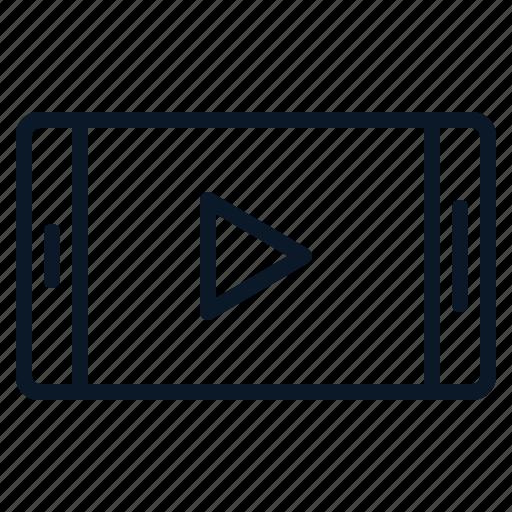 clip, movie, smartphone, technology, video icon
