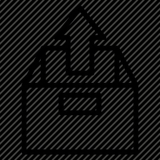 box, computer, device, electronic, internet, technology, upload icon