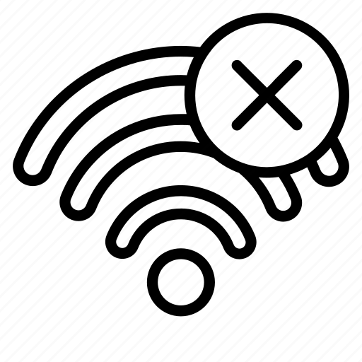 connection, device, fi, no, technology, wi, wifi icon