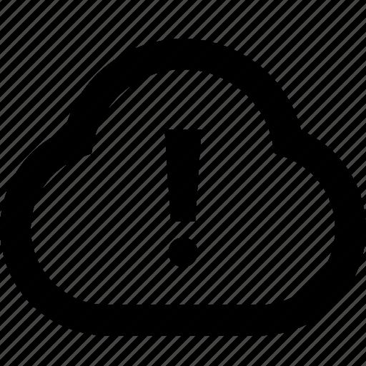 alart, cloud, error, warning icon