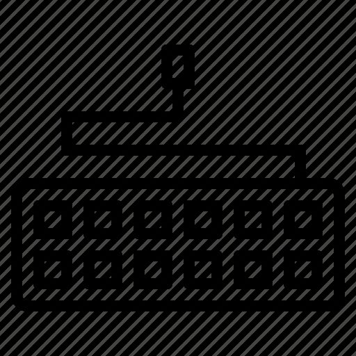 computer, keyboard, technology, type, usb, write icon