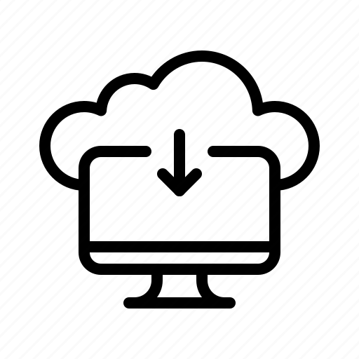 cloud, computer, connection, data, download, technology icon