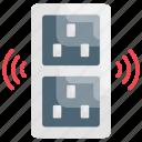 city, monochrome, smart, socket icon