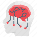 brain, digital, electronic, processor