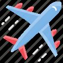 aeroplane, aircraft, airplane, flight, transportation