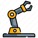 arm, machine, robot, robotics icon