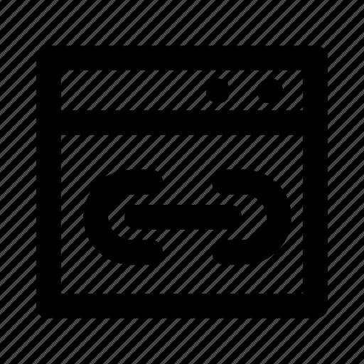 external, internet, link, url, window icon