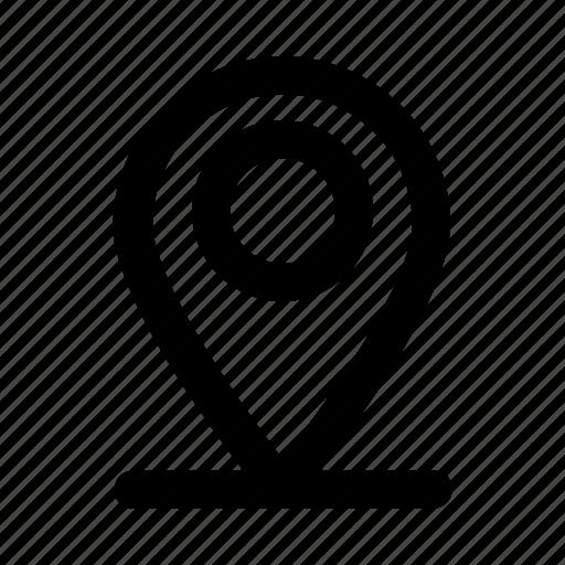 destination, gps, map, pin, pointer icon