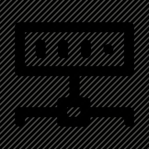 connection, database, server, sharing, storage icon