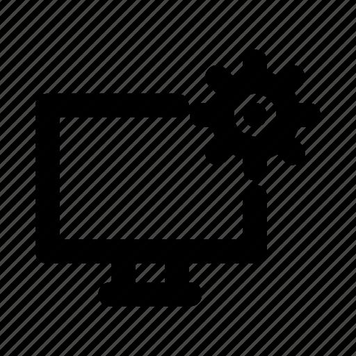 configuration, desktop, device, monitor, setting icon