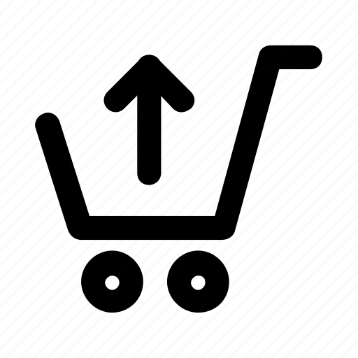 cart, shop, shopping, trolley, upload icon