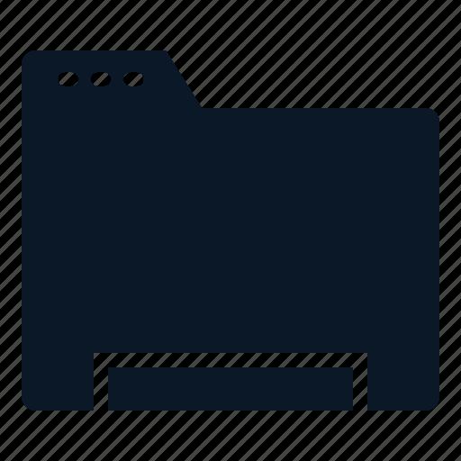 Folder, data, file, digital icon