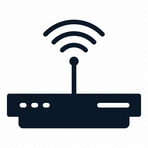 modem, network, router, technology, wireless icon