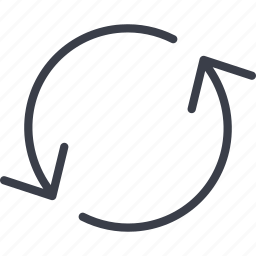 arrow, arrows, circulation, technology icon
