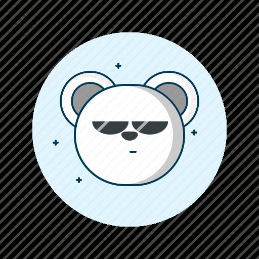 cool, emoji, emoticon, face, smiley icon