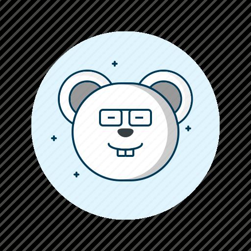 emoji, emoticon, face, geek, smiley icon