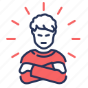 anger, emotional, impatience, problem icon