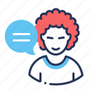chat, comments, criticism, nasty icon