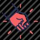 fighting, violation, fist, anger icon