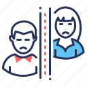 couple, divorce, loss of intimacy, relationship icon