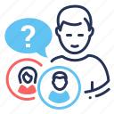 gender, personal identity, preference, question icon