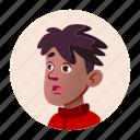 african, avatar, black, boy, face, people, school icon