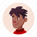 african, avatar, black, boy, face, people, school icon